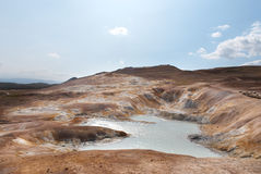 Boiling mud pools in Iceland Stock Image