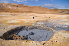 Boiling mud pools in Iceland Royalty Free Stock Photography