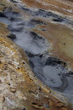 Boiling mud pools, Reykjanes peninsula, Iceland Stock Images