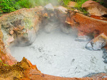 Boiling mud pot. In Rincon de la Vieja national park, Costa Rica Stock Images