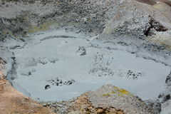 Boiling mud. Sol de Manana geothermal field. Eduardo Avaroa Andean Fauna National Reserve. Bolivia. Sol de Manana, meaning Morning Sun in Spanish, is a Stock Image