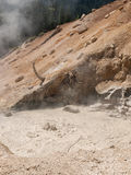 Boiling mud at volcanic area Royalty Free Stock Images
