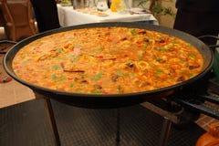 Boiling paella Royalty Free Stock Photo