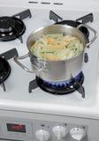 Boiling pasta Stock Photo