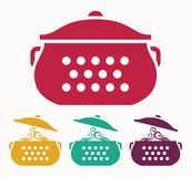 Boiling pot Royalty Free Stock Images
