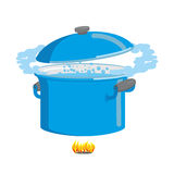 Boiling pot of water. Cookware for cooking Stock Photos
