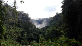 Boiling pot Zambezi River Zambia royalty free stock photography