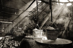 Boiling salt. Light with a haze of boiling salt Stock Image