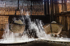 Boiling salt mountainous of Nan province, Thailand Stock Photo
