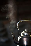 Boiling silver kettle Royalty Free Stock Photos