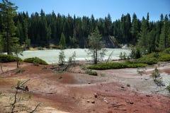 Boiling spring lake in Lassen Volcanic National Park. California Stock Photos