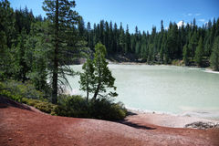 Boiling spring lake in Lassen Volcanic National Park Royalty Free Stock Images