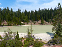Boiling Springs Lake. Lassen Volcanic National Park, Northern California Stock Images