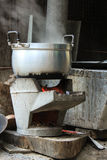 Boiling Stove. Traditional stove is boiling for dinner Royalty Free Stock Image