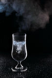 Boiling water in a glass Royalty Free Stock Photography