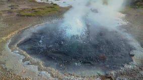 Hveravellir geotermal area stock video footage
