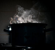 Boiling water in a pot Stock Photos