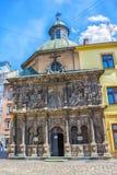 1609 1617年boim教堂系列lviv乌克兰 利沃夫州市中心 库存图片