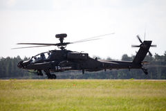 Boing AH-64 Apache flights on airport Stock Photo