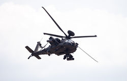 Boing AH-64 Apache flights on airport Royalty Free Stock Image