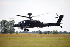 Boing AH-64 Apache flights on airport Royalty Free Stock Photography