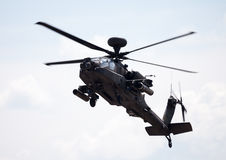 Boing AH-64 Apache flights on airport Stock Images