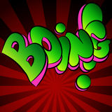 Boing Comic Sound Effect Text Royalty Free Stock Photo
