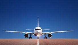 Boing on runway Royalty Free Stock Photography