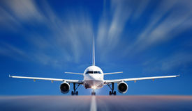Boing on runway Royalty Free Stock Photos