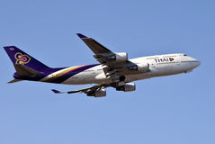 Boing tailandês 747 Foto de Stock