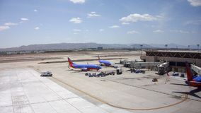 Boing-737 van Southwest Airlines in PHX, AZ Stock Foto's