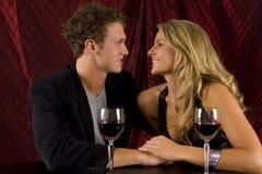 Boire de couples Images libres de droits