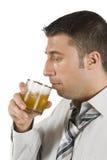 Boire du whiskey Image libre de droits