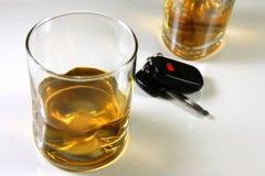 Boire et piloter Image libre de droits