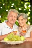 Boire mûr de couples Photo stock