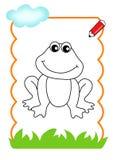 bois à être couleur, grenouille Photo stock