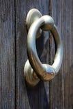 bois abstrait de porte de heurtoir en Espagne brune Photos libres de droits
