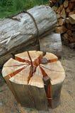 Bois - bois de chauffage Photos libres de droits