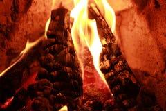 Bois brûlant Images libres de droits