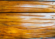 Bois brun sculpté image stock