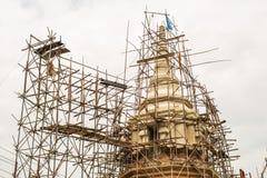 Bois d'échafaudage de pagoda de construction Images stock