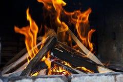 Bois d'incendie Image libre de droits