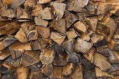 Bois d'incendie de pile Photographie stock