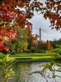 从Bois de布洛涅的Eiffeltower 库存照片