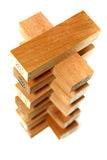 bois de 5 séries de bloc photographie stock