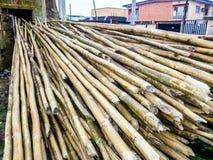 Bois de bambou de toiture Image libre de droits