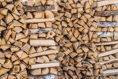 Bois de bouleau de tas de bois image stock