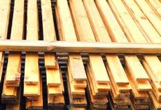 Bois de charpente empilé Images stock
