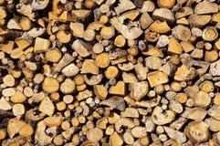 Bois de chauffage coupé Photographie stock