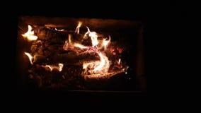 Bois de chauffage dans la flamme de danse clips vidéos